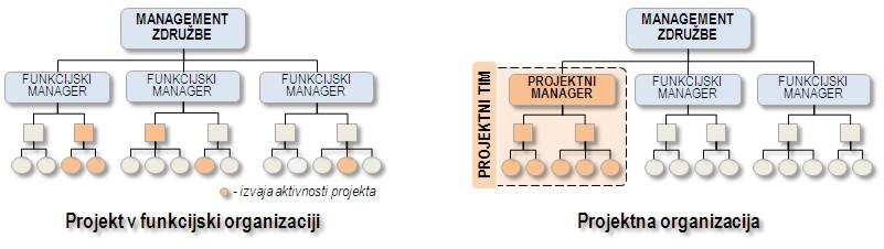 Funkcijska in projektna organizacija